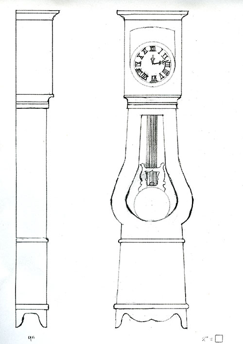 Grandfather Clock Sketch The Blakely Burl...